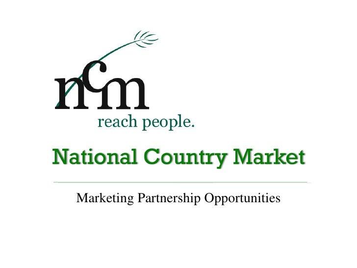 Marketing Partnership Opportunities