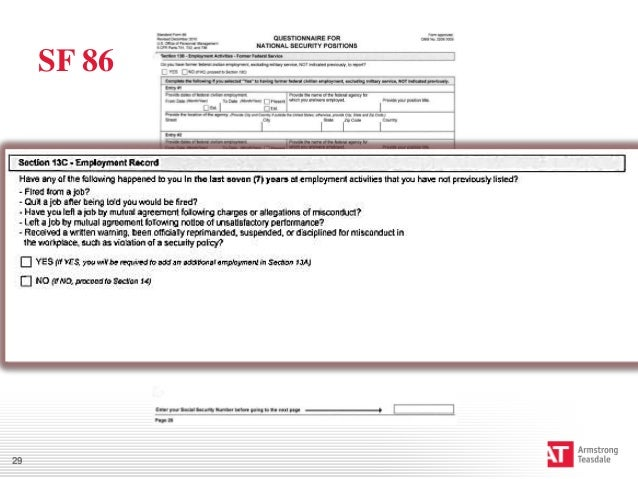 Worksheet Sf 86 Worksheet how to guide your employee during the clearance process sf 86 29