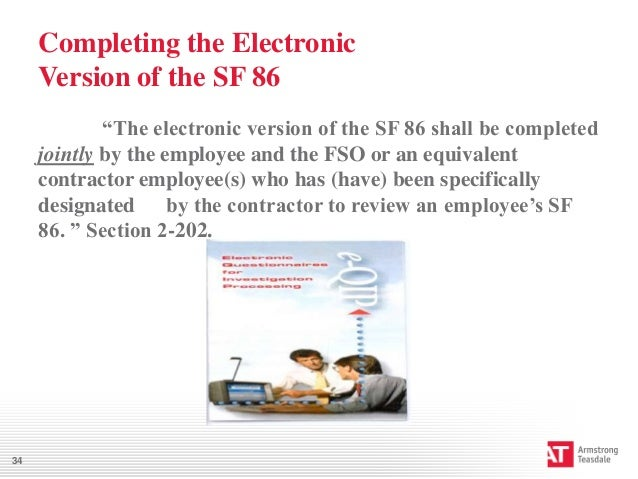 Worksheets Sf 86 Worksheet how to guide your employee during the clearance process 34 completing electronic version of sf 86