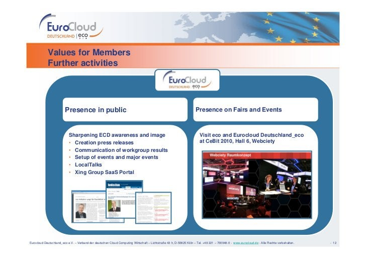 Values for Members             Further activities                             Presence in public                          ...