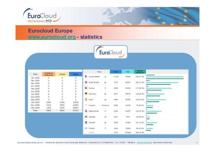 Eurocloud Europe             www.eurocloud.org - statistics     Eurocloud Deutschland_eco e.V. – Verband der deutschen Clo...