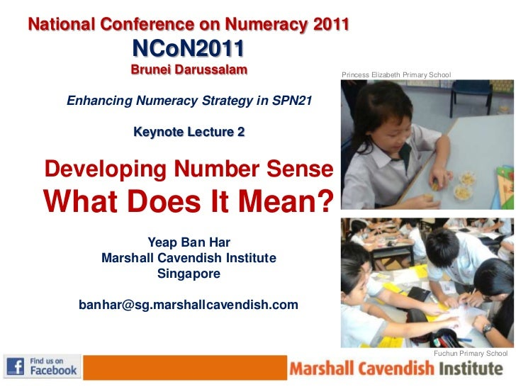 National Conference on Numeracy 2011 NCoN2011<br />Brunei Darussalam<br /><br />Enhancing Numeracy Strategy in SPN21<br /...