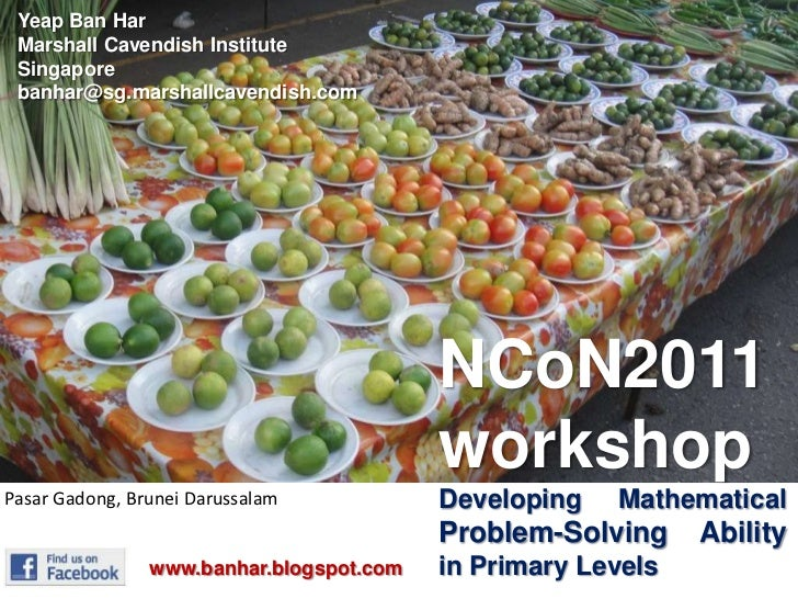 Yeap Ban Har<br />Marshall Cavendish Institute<br />Singapore<br />banhar@sg.marshallcavendish.com<br />NCoN2011<br />work...