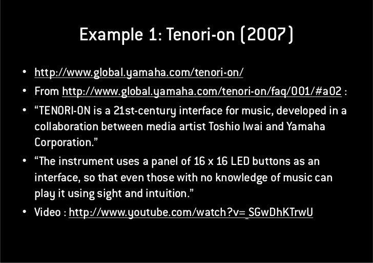 NCorreia Interactive Audio Visual Projects 2011-05-17 Slide 2