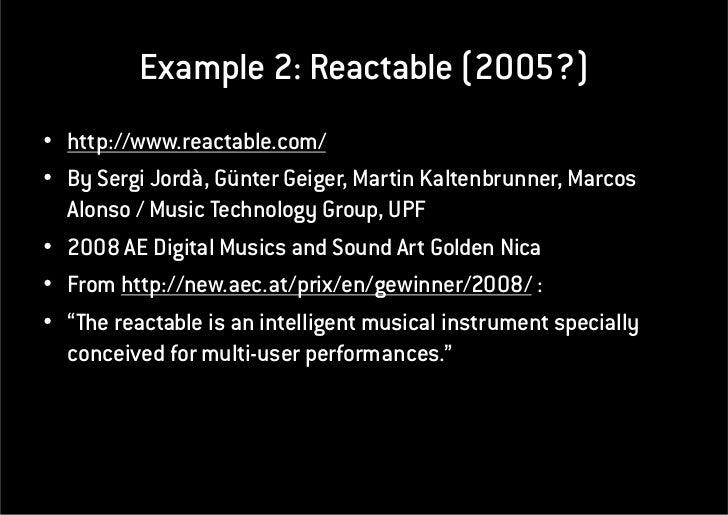 NCorreia Interactive Audio Visual Projects 2011-05-17 Slide 3