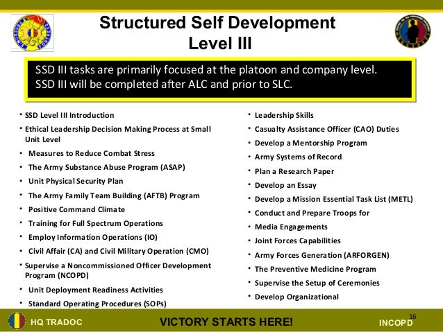 nco structured self development brief ppt rh slideshare net Structured Self-Development Tracker Structured Self-Development Tracker