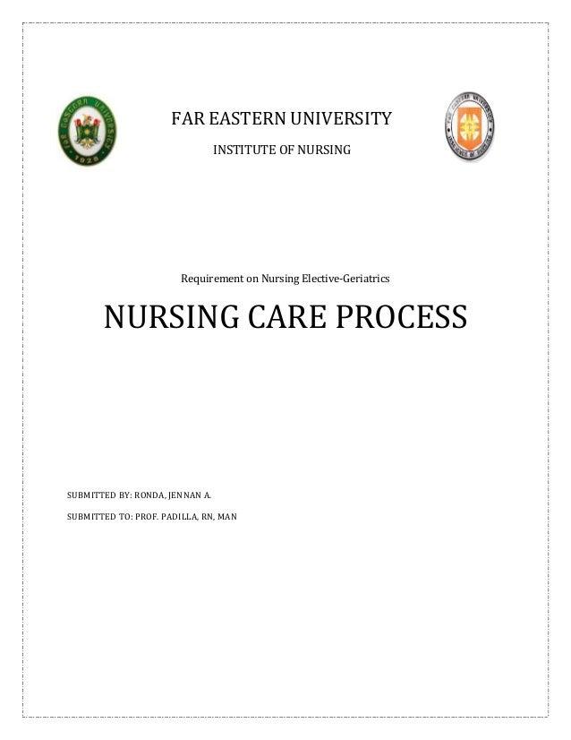 FAR EASTERN UNIVERSITY                                 INSTITUTE OF NURSING                        Requirement on Nursing ...