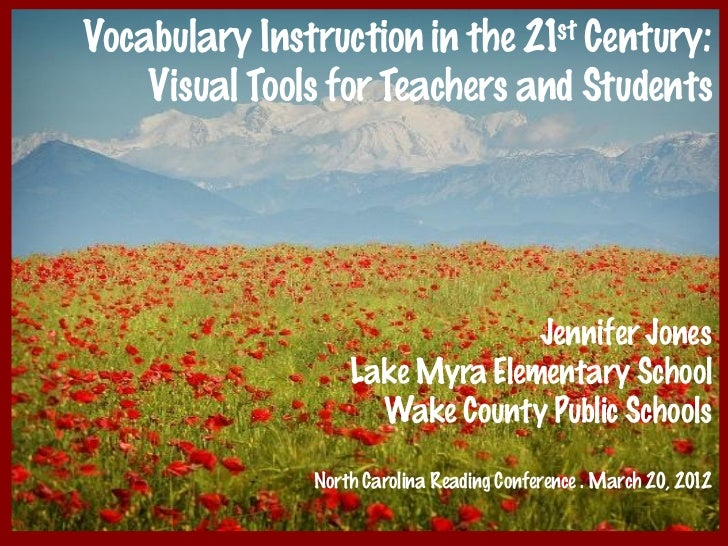 Vocabulary Instruction in the 21st Century:    Visual Tools for Teachers and Students                                 Jenn...