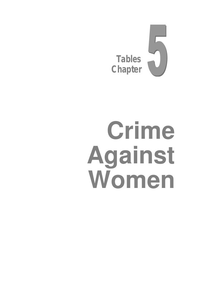 Tables Chapter  Crime Against Women