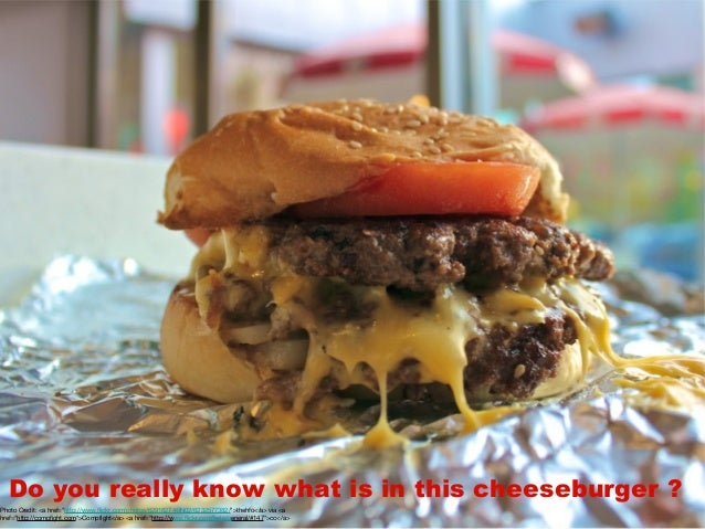 "Do you really know what is in this cheeseburger ? Photo Credit: <a href=""http://www.flickr.com/photos/62918274@N02/6232577..."