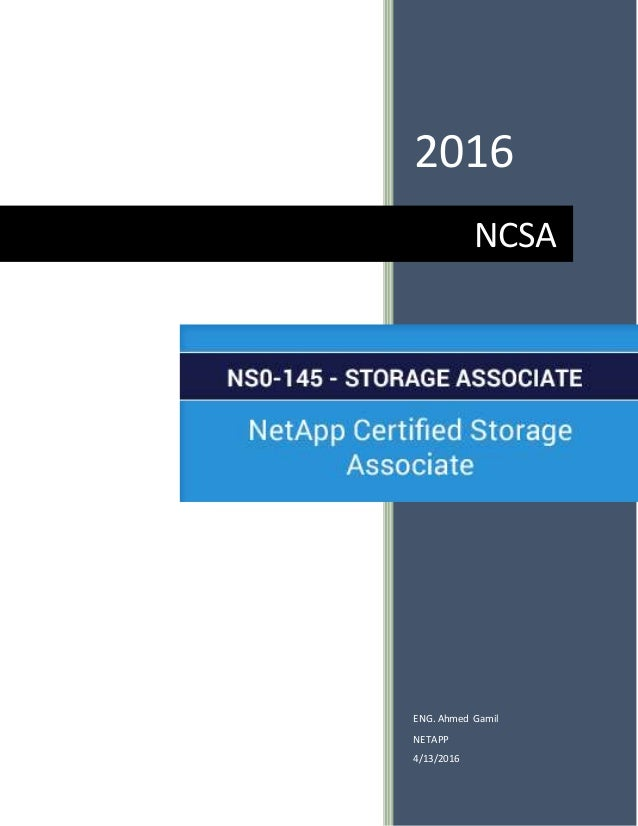 Netapp Certified Storage Associate Ncsa