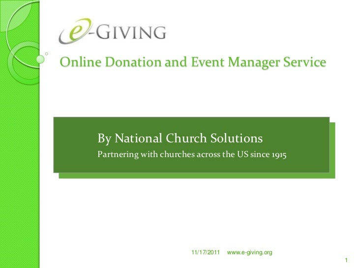 Online Donation and Event Manager Service     By National Church Solutions     Partnering with churches across the US sinc...