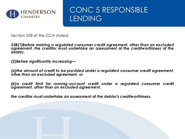 Changes To The Consumer Credit Regime