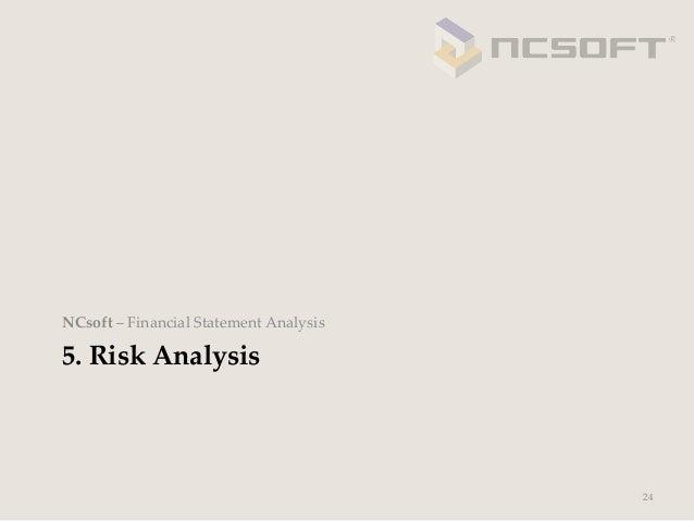 NCsoft – Financial Statement Analysis5. Risk Analysis                                              24