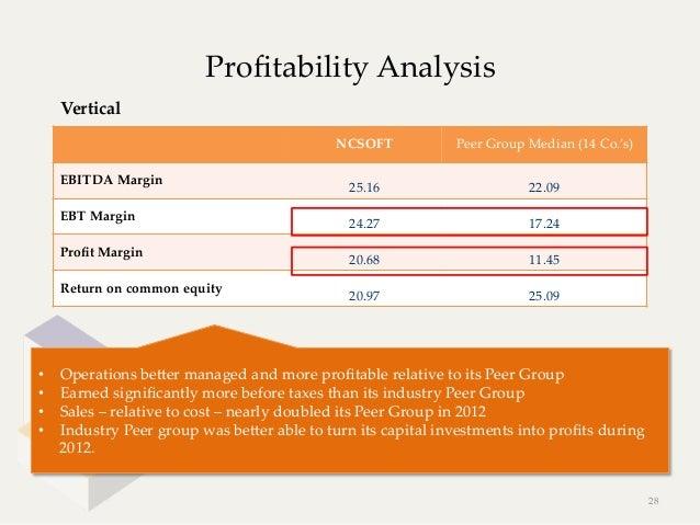 Profitability Analysis     Vertical                                                   NCSOFT             Peer Group M...