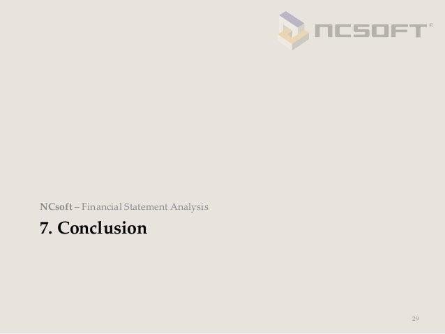 NCsoft – Financial Statement Analysis7. Conclusion                                              29