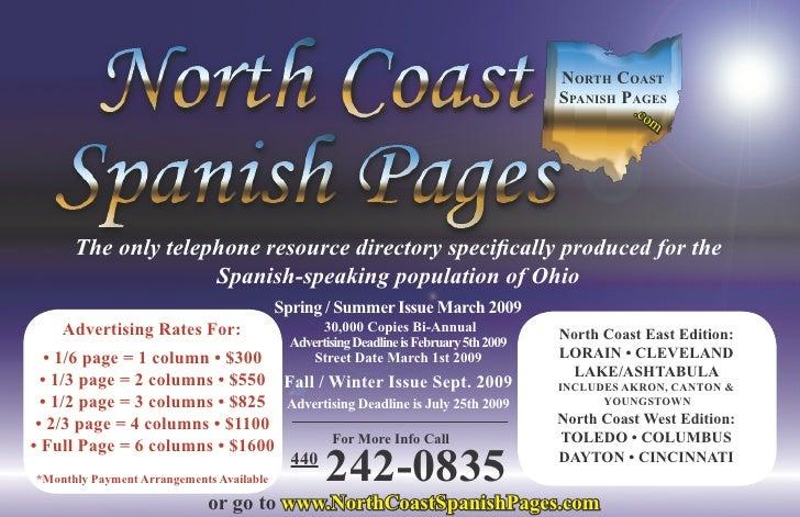 North Coast                                                                                        spaNish pages          ...