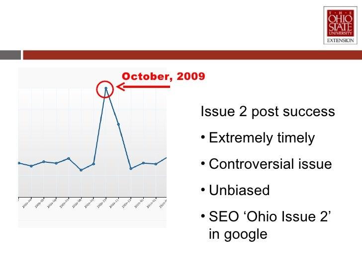 October, 2009 <ul><li>Issue 2 post success </li></ul><ul><li>Extremely timely </li></ul><ul><li>Controversial issue </li><...
