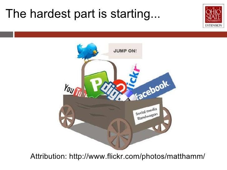 The hardest part is starting... Attribution:http://www.flickr.com/photos/matthamm/