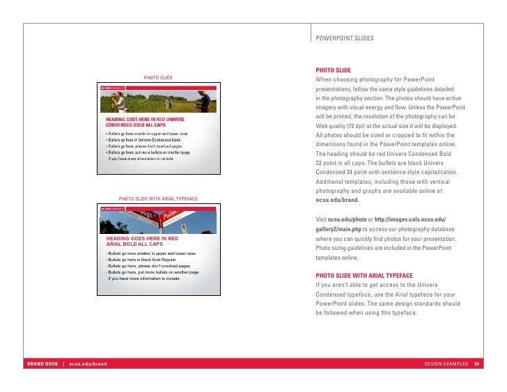 ncstatebrandbook, Presentation templates