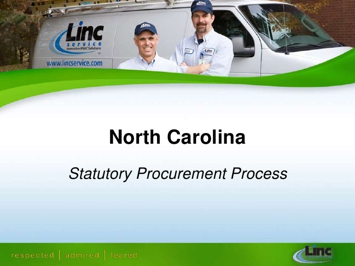 North Carolina<br />Statutory Procurement Process<br />