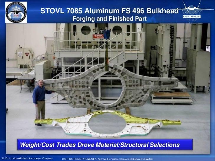 STOVL 7085 Aluminum FS 496 Bulkhead                                                      Forging and Finished Part        ...