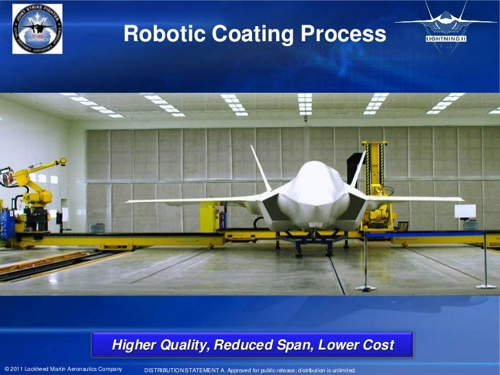 Robotic Coating Process                                      Higher Quality, Reduced Span, Lower Cost© 2011 Lockheed Marti...