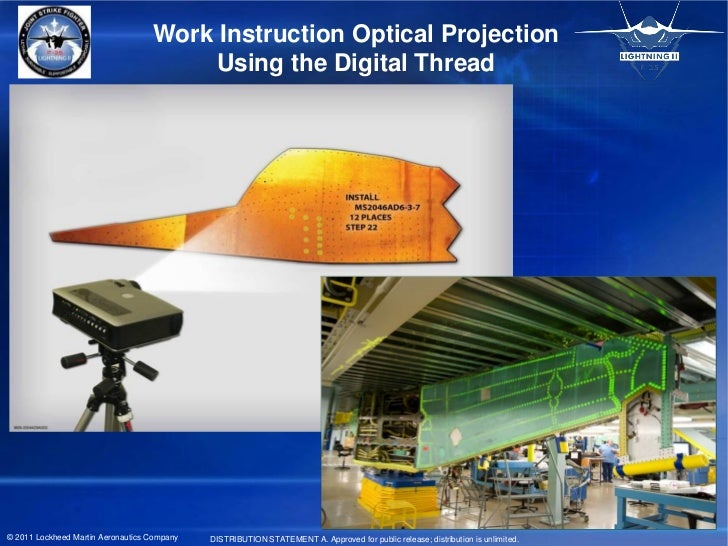 Work Instruction Optical Projection                                        Using the Digital Thread© 2011 Lockheed Martin ...