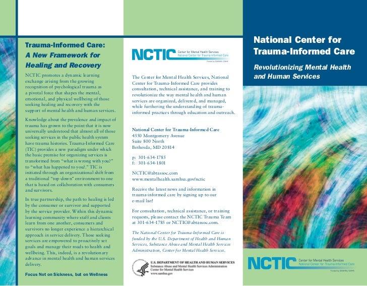 Trauma-Informed Care:                                                                                                     ...