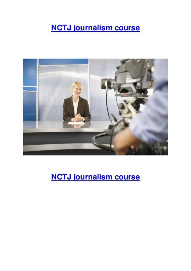 NCTJ journalism course  NCTJ journalism course
