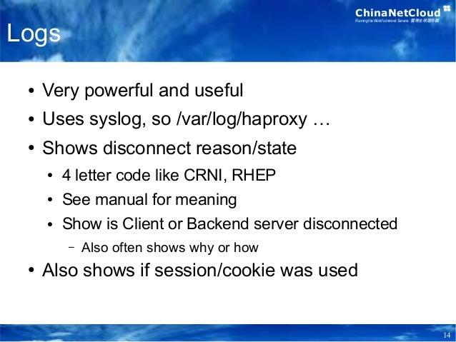 ChinaNetCloud Training - HAProxy Intro