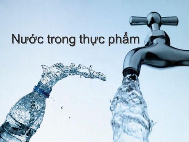 Nước trong thực phẩm