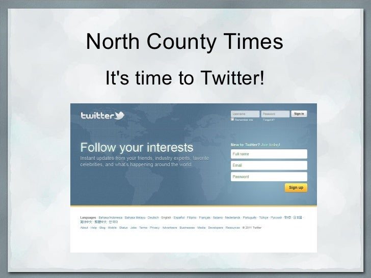 North County Times Its time to Twitter!
