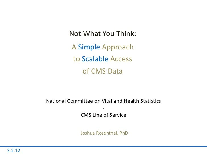 Not What You Think:                   A Simple Approach                    to Scalable Access                        of CM...
