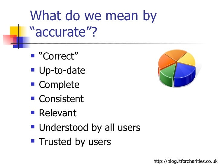 data and its importance in accurate Ensuring that complete and accurate data is being used to make critical daily business decisions is perhaps the primary reason why data quality is so vitally important to the success of your organization&nbsp however, this effort can sometimes take on a life of its own, where achieving compl.