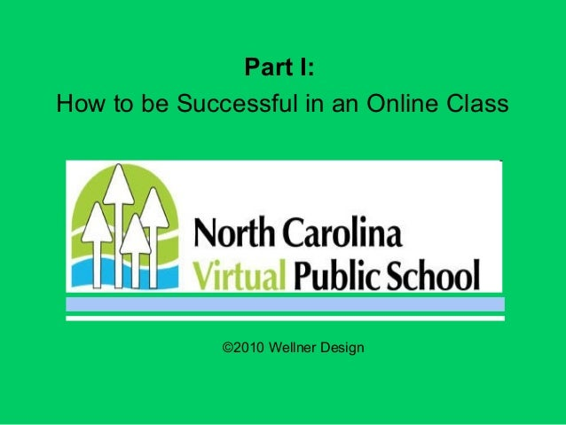 Part I: How to be Successful in an Online Class ©2010 Wellner Design