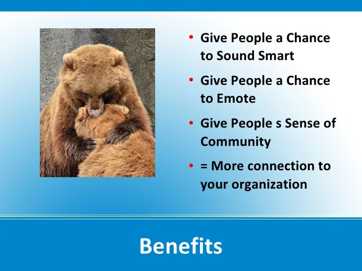    Give People a Chance         to Sound Smart        Give People a Chance         to Emote        Give People s Sense ...
