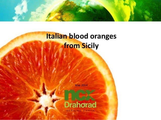 Italian blood oranges from Sicily May 2014