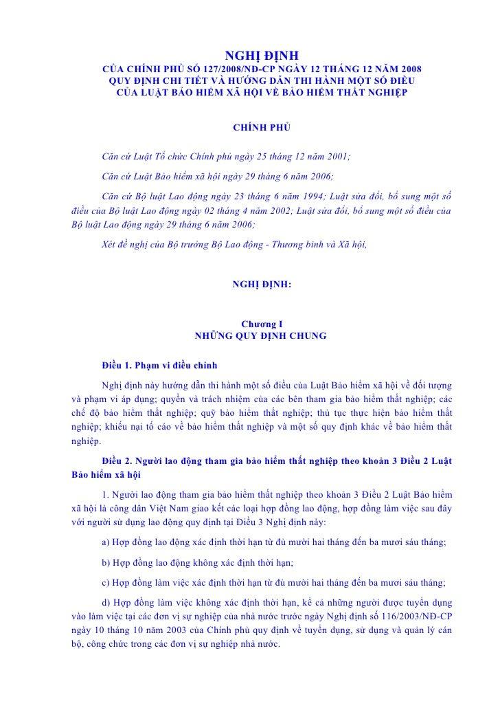 NGHỊ ĐỊNH        CỦA CHÍNH PHỦ SỐ 127/2008/NĐ-CP NGÀY 12 THÁNG 12 NĂM 2008         QUY ĐỊNH CHI TIẾT VÀ HƯỚNG DẪN THI HÀNH...