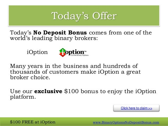 Free $100 binary options
