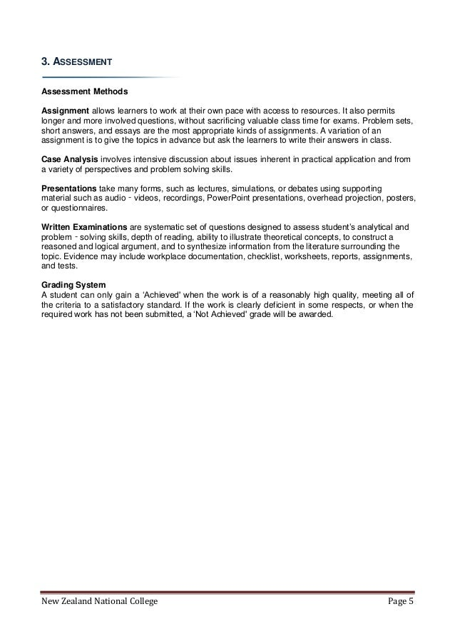New Zealand National College Ndb l6 course handbook – Written Document Analysis Worksheet Answers