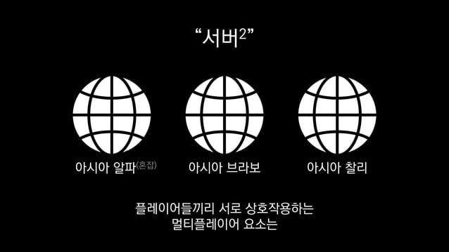 """""""서버2"""" 아시아 알파(혼잡) 아시아 브라보 아시아 찰리 플레이어들끼리 서로 상호작용하는 멀티플레이어 요소는"""