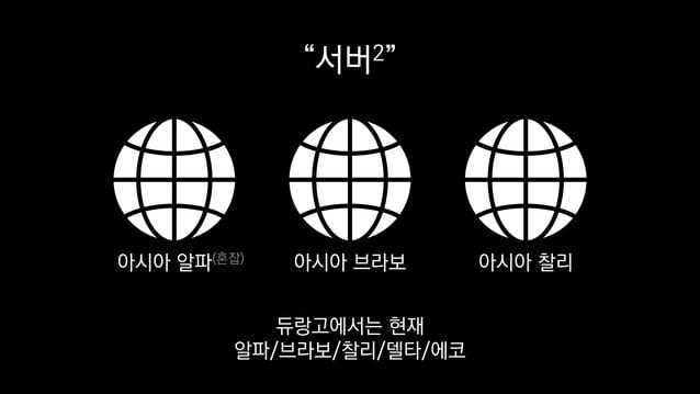 """""""서버2"""" 아시아 알파(혼잡) 아시아 브라보 아시아 찰리 듀랑고에서는 현재 알파/브라보/찰리/델타/에코"""