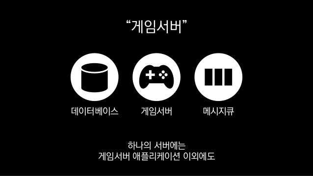 """""""게임서버"""" 게임서버데이터베이스 메시지큐 하나의 서버에는 게임서버 애플리케이션 이외에도"""