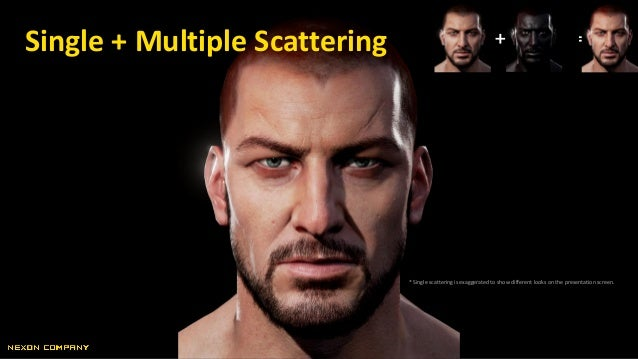 + =Single + Multiple Scattering * Single scattering is exaggerated to show different looks on the presentation screen.