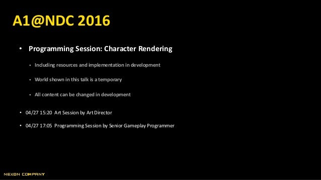 • Programming Session: Character Rendering  Including resources and implementation in development  World shown in this t...