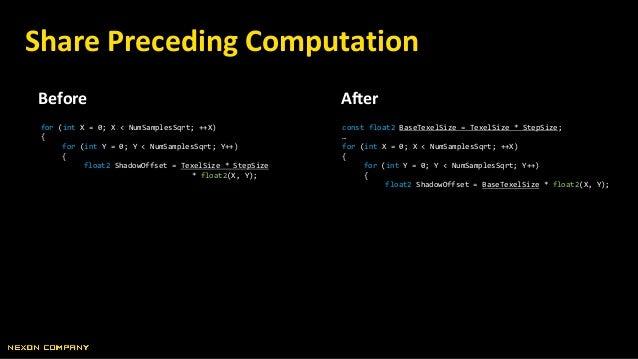 Before After Rearrange Code Lines // 무언가 긴 작업… // clip(OpacityMask); // 셰이더 메인이 시작 후 최대한 빨리… // clip(OpacityMask);