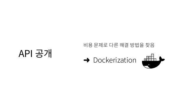 API 공개 비용 문제로 다른 해결 방법을 찾음 ➜ Dockerization
