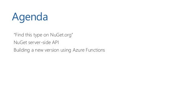 NDC Oslo 2019 - Indexing and searching NuGet.org with Azure Functions and Search Slide 2