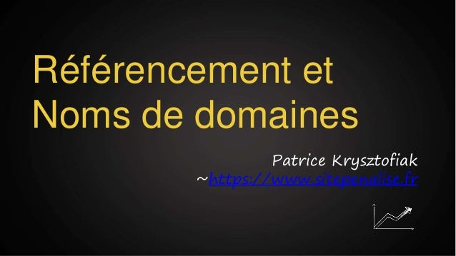 Référencement et Noms de domaines Patrice Krysztofiak ~https://www.sitepenalise.fr